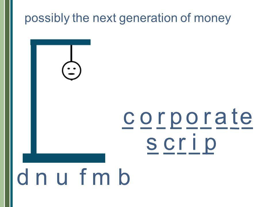 cropoarte srcip possibly the next generation of money nufmbd