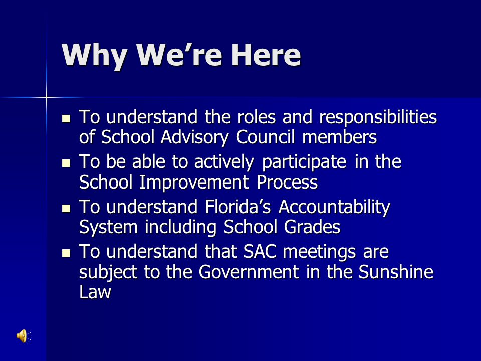 SPP Requirements continued… All schools with a grade of C or below or schools required to have a plan under federal law must have a plan pursuant to s.
