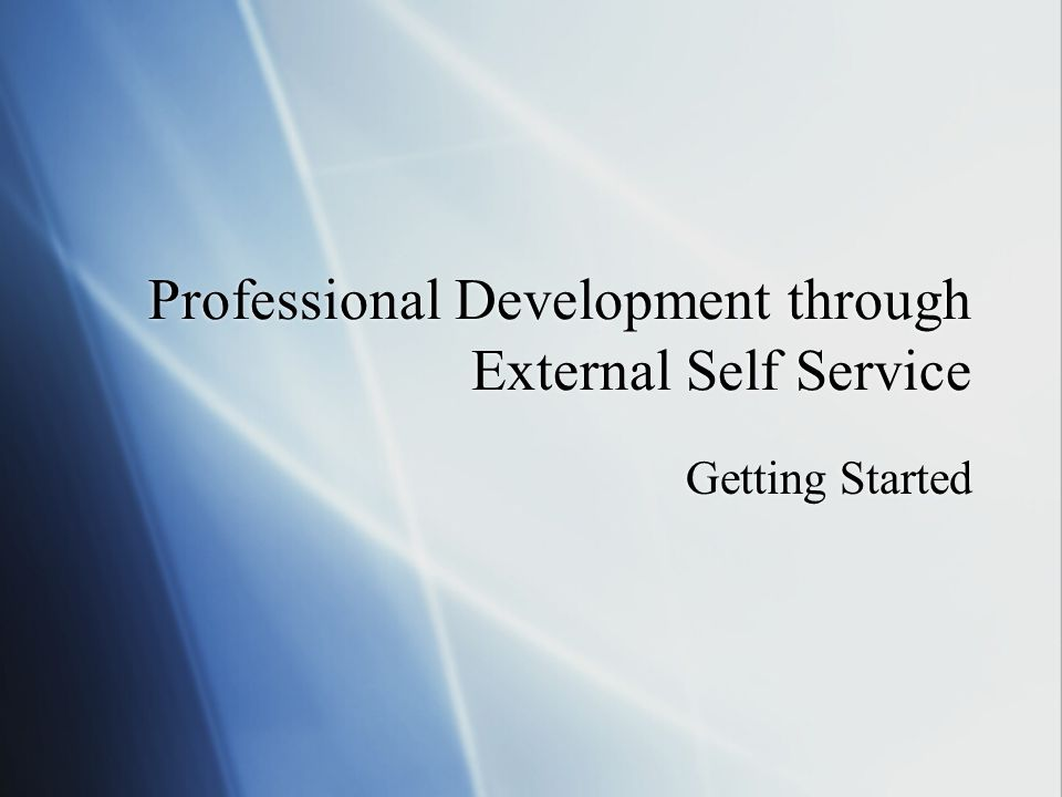 My Training Activities Page Click on the Professional Development tab to see the My Training Activities page.
