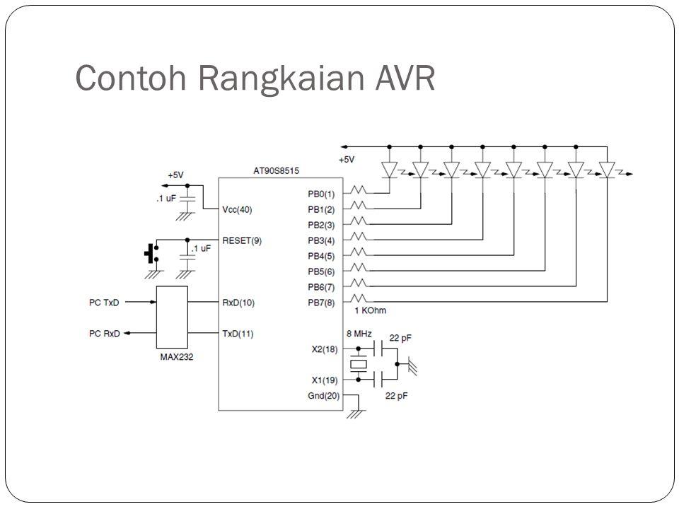 Contoh Rangkaian AVR
