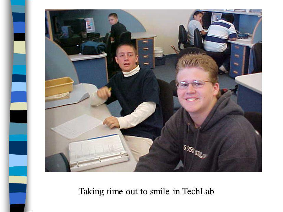 Taking time out to smile in TechLab
