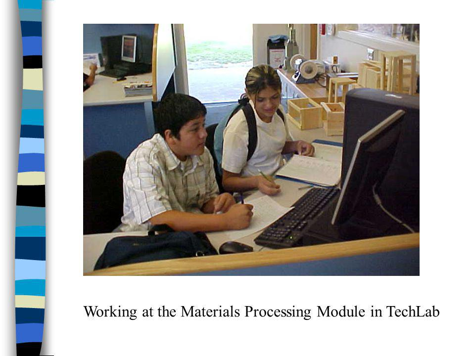 Working at the Materials Processing Module in TechLab