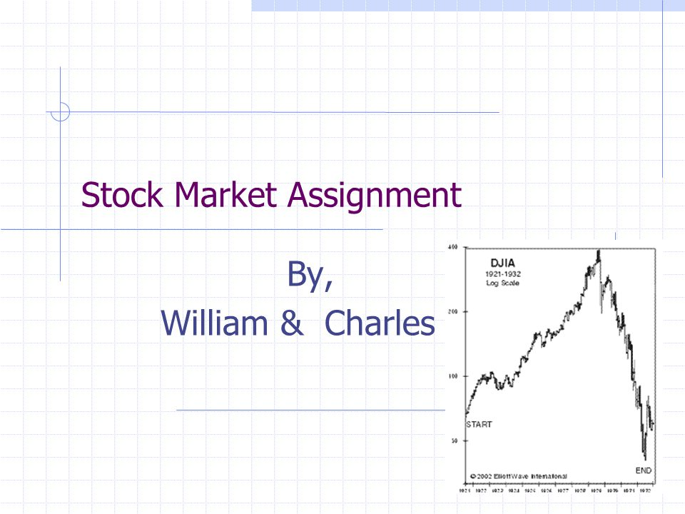 Stock Market Assignment By, William & Charles