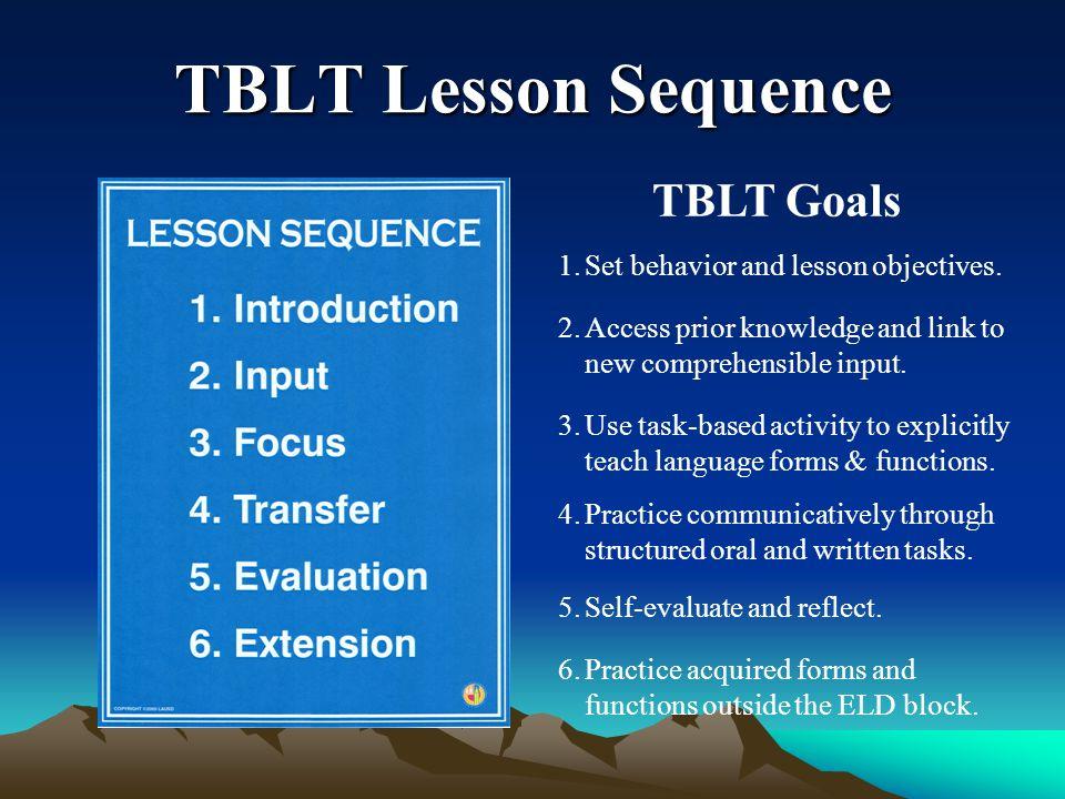 Applying TBLT Across the Curriculum