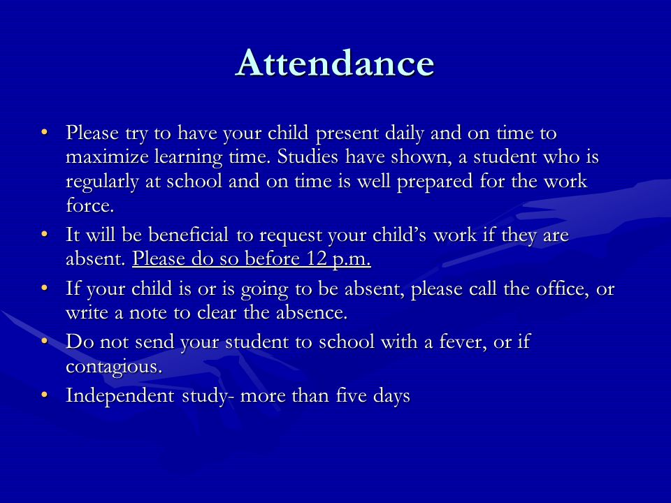 Academic Progress and Communication Each week you will have the opportunity to check your child's progress online.