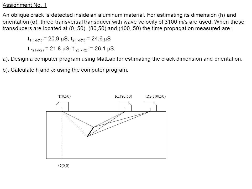 T(0,50)R1(80,50)R2(100,50) O(0,0) Assignment No.
