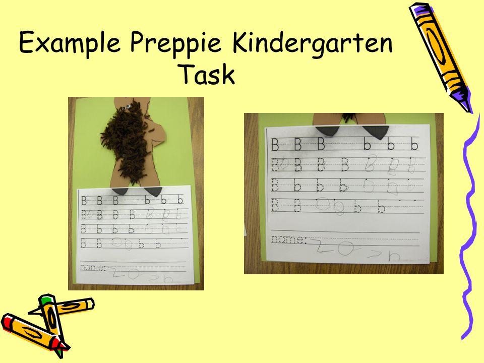 Example Academic Kindergarten Task