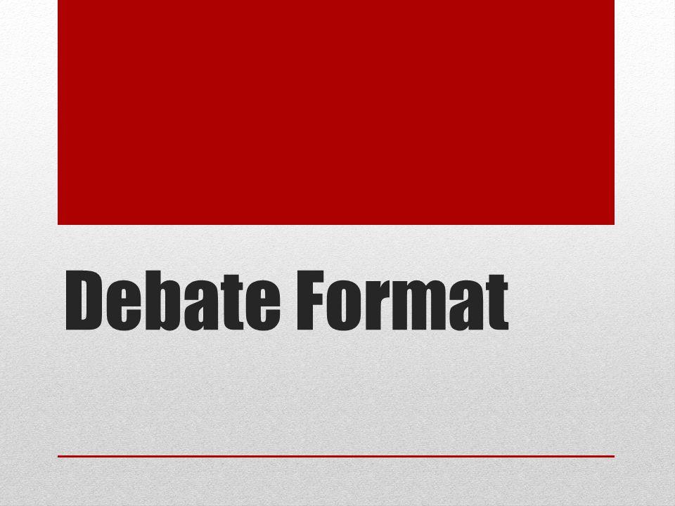 Debate Format