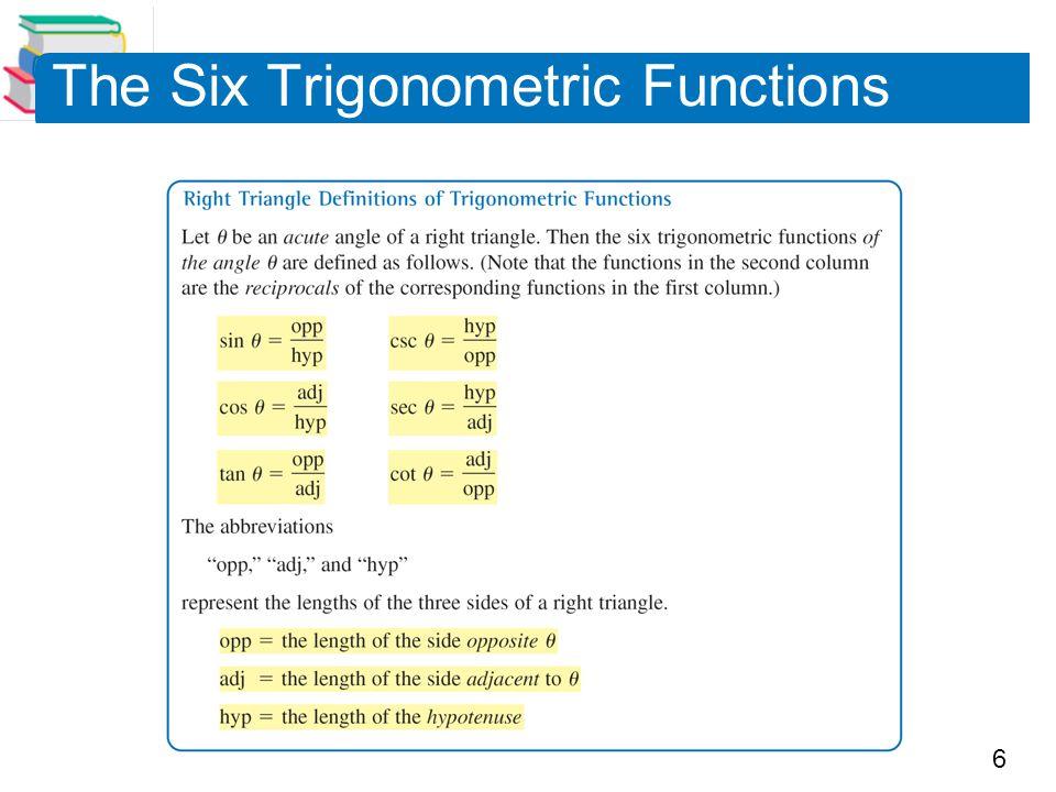 6 The Six Trigonometric Functions