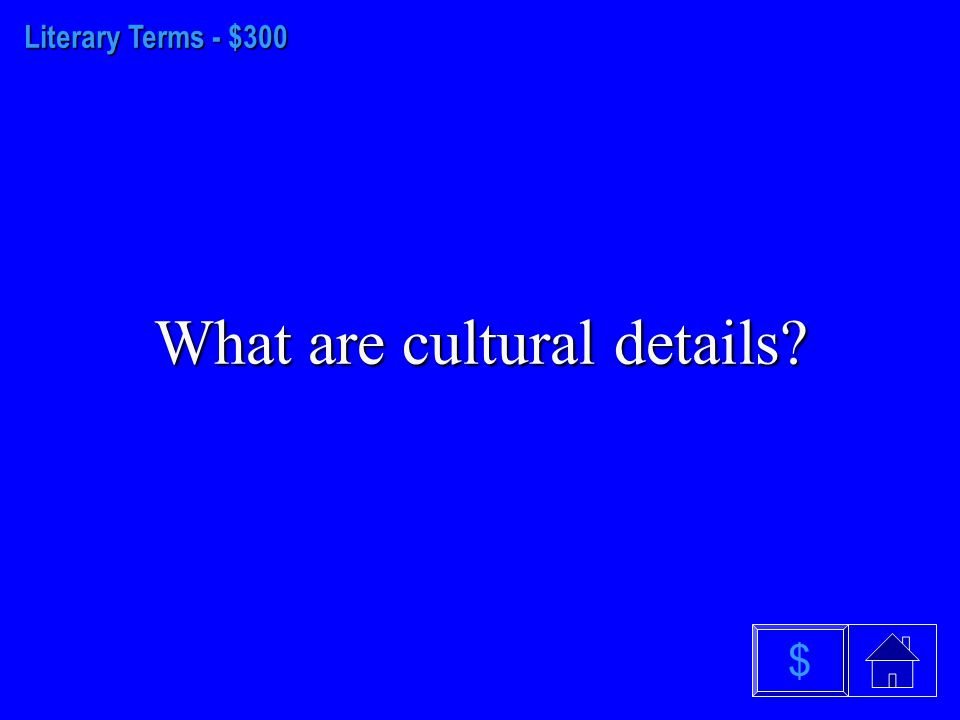 Literary Terms - $200 What is oral tradition $