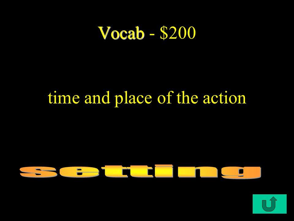 C1-$100 Vocab Vocab - $100 a specialist who studies the description of the earth