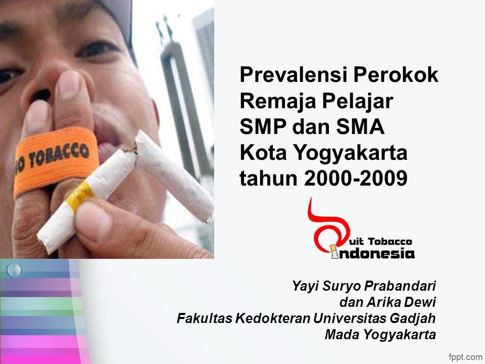 Yayi Suryo Prabandari dan Arika Dewi Fakultas Kedokteran Universitas Gadjah Mada Yogyakarta Prevalensi Perokok Remaja Pelajar SMP dan SMA Kota Yogyaka