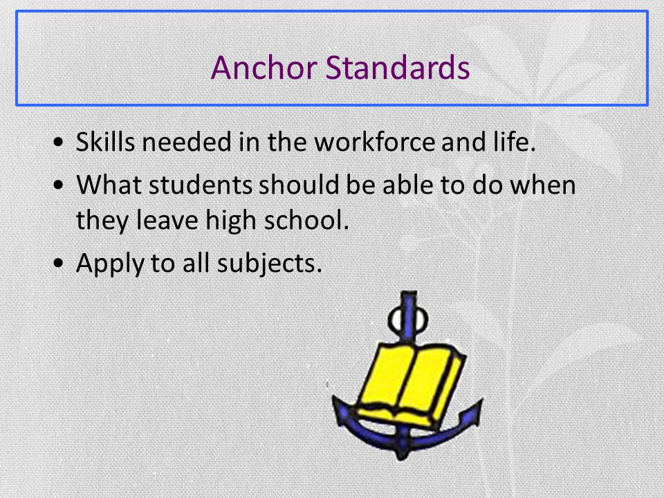 Skills needed in the workforce and life.