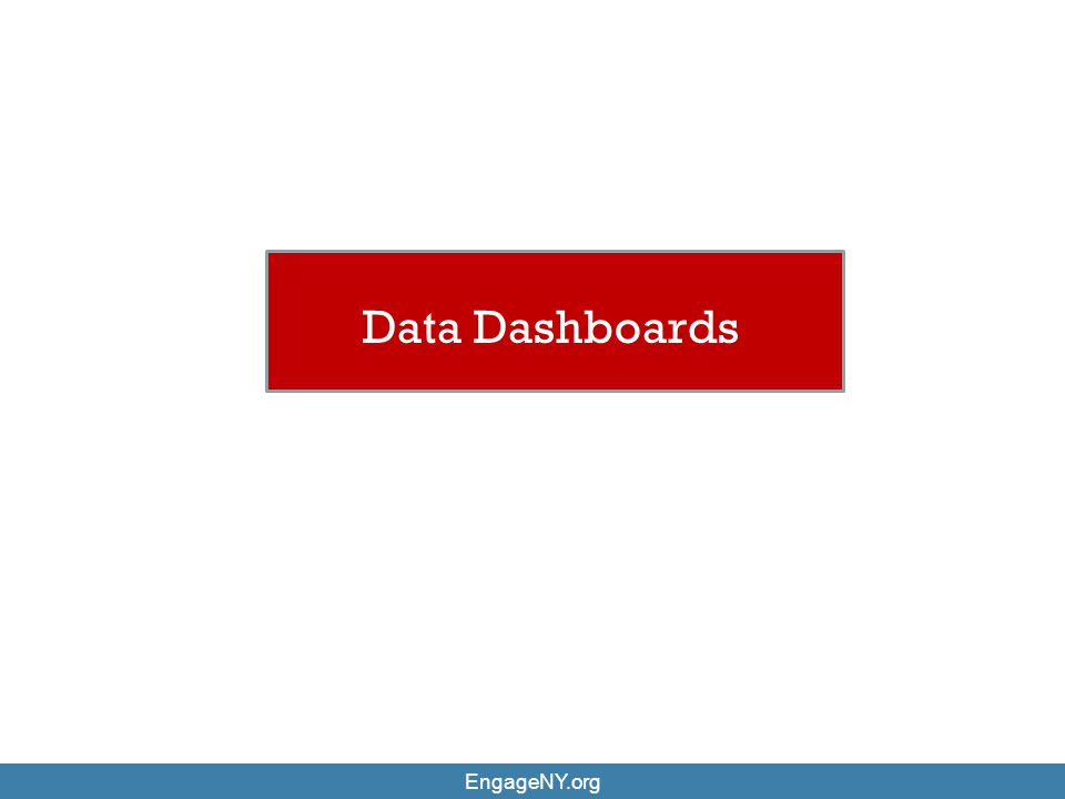 EngageNY.org Data Dashboards