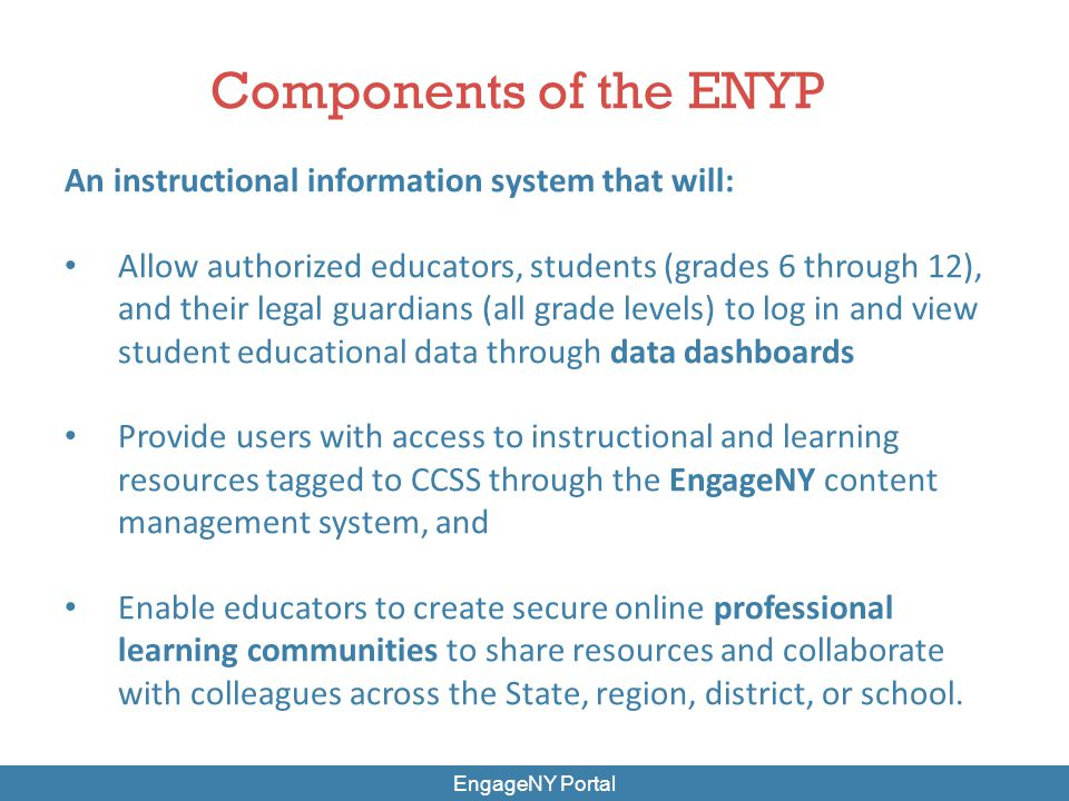 EngageNY.org16 Data Dashboard: CCSS Learning Maps Bridging performance data with the goals established in the CCSS, a learning map shows a student's (or group of students') progression towards mastery
