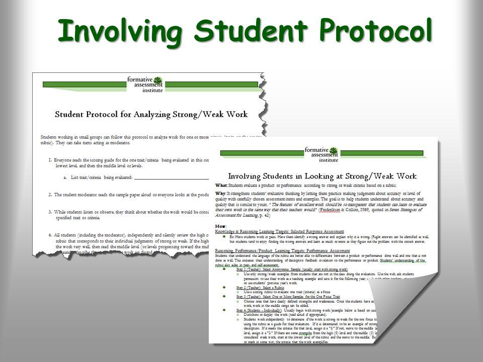 Involving Student Protocol