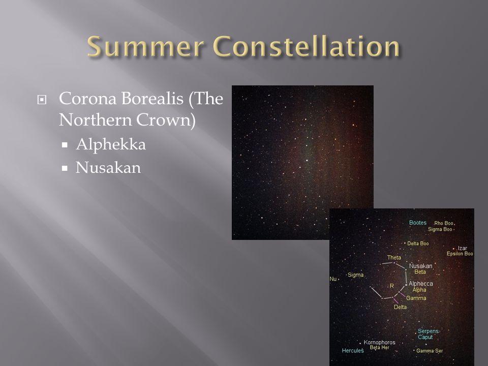  Corona Borealis (The Northern Crown)  Alphekka  Nusakan