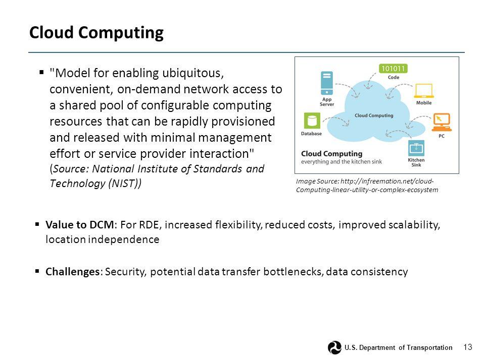 13 U.S. Department of Transportation Cloud Computing 
