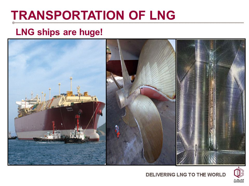 LNG ships are huge! TRANSPORTATION OF LNG