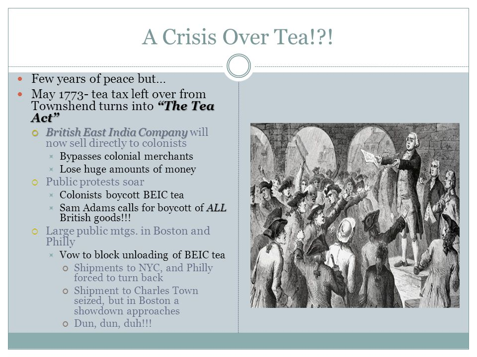 A Crisis Over Tea! .