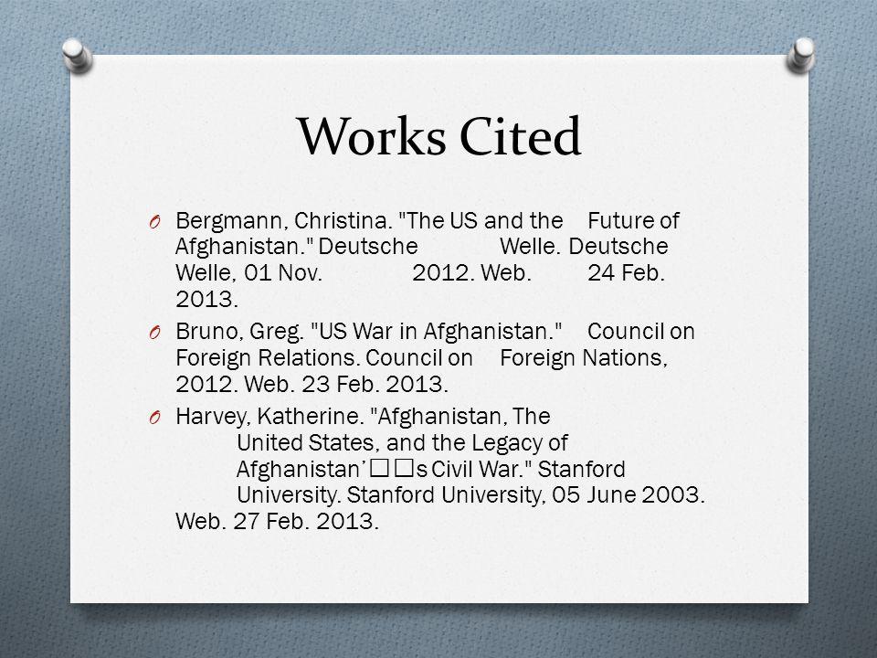 Works Cited O Bergmann, Christina.