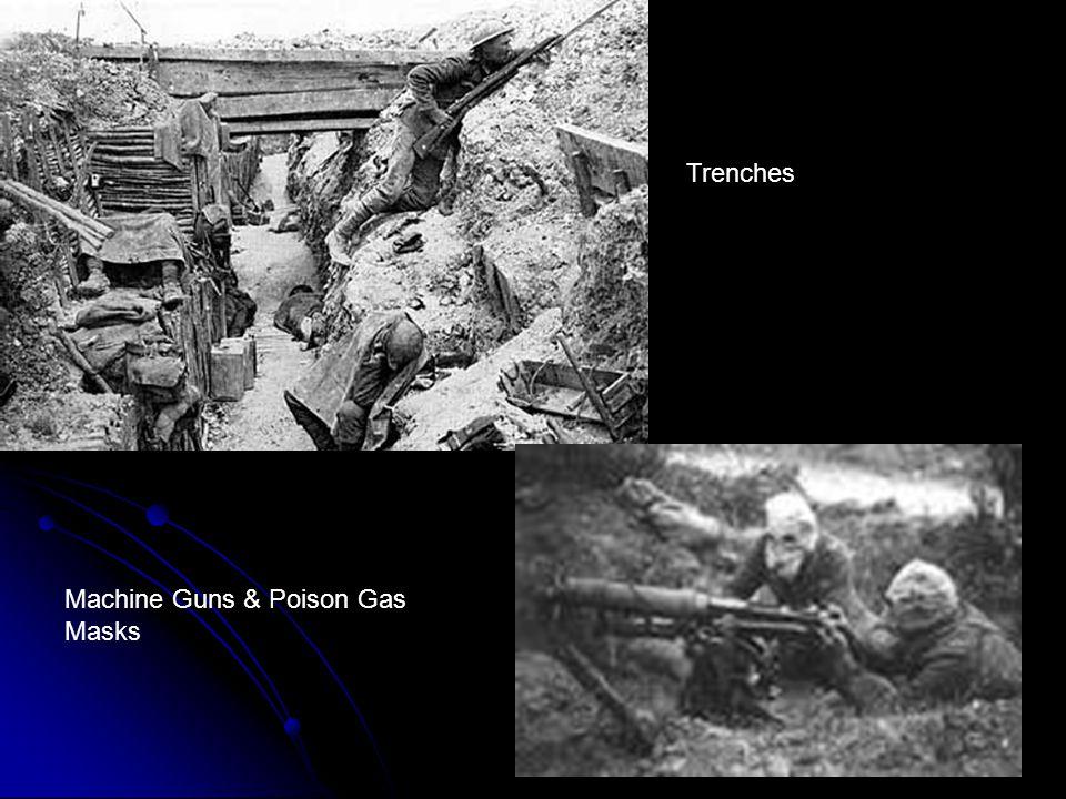 Machine Guns & Poison Gas Masks Trenches