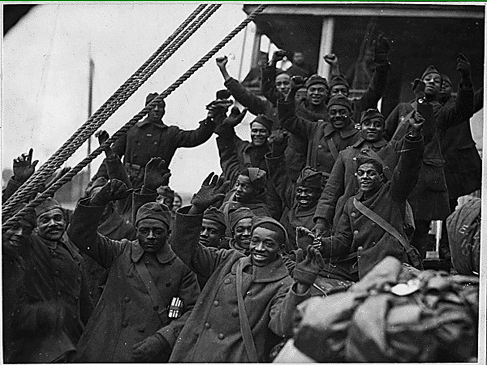"""The 369 th Regiment  They never gave up a prisoner or lost a trench during battle.  There heroic fighting style earned them the name """"Men of Bronze"""""""
