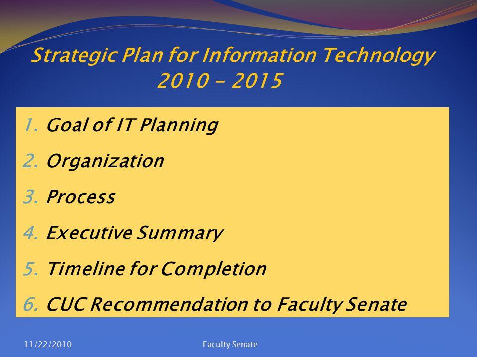 Strategic Plan for Information Technology 4.