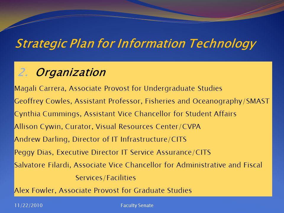 Strategic Plan for Information Technology 5.