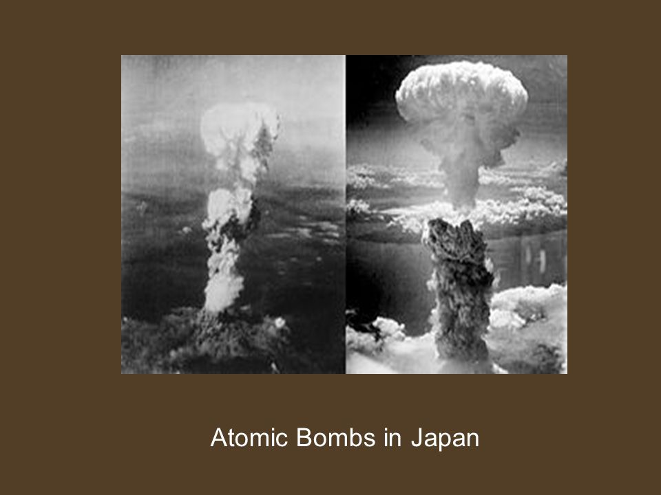 Atomic Bombs in Japan