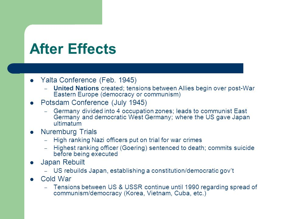 After Effects Yalta Conference (Feb.