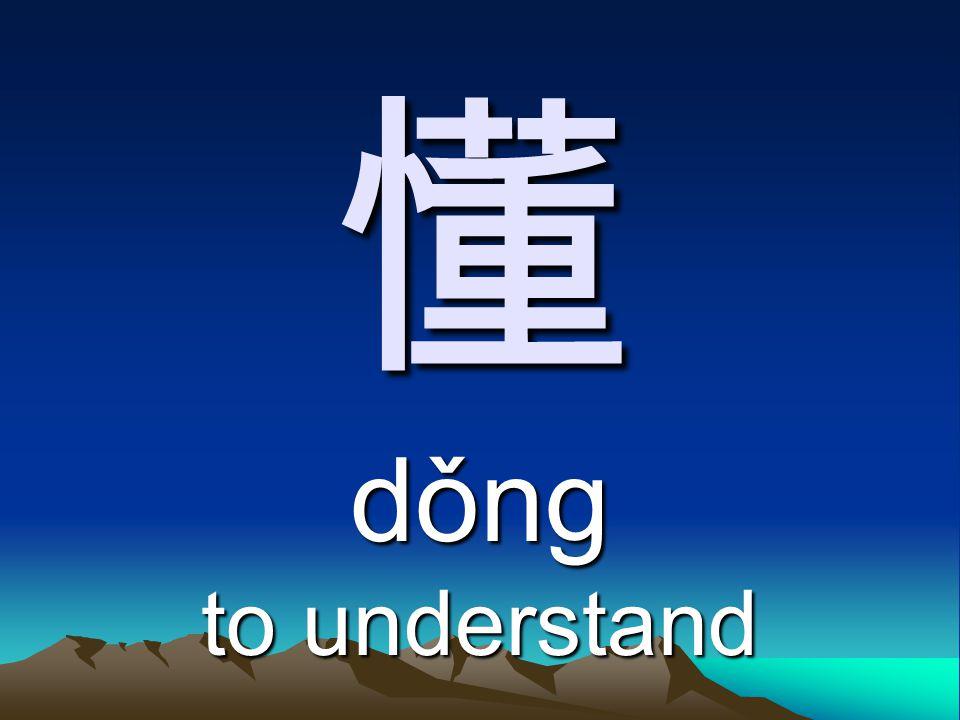 懂 dǒng to understand