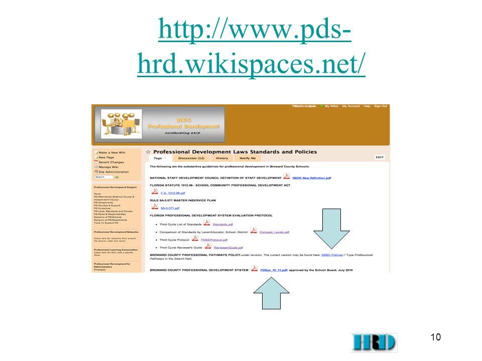 http://www.pds- hrd.wikispaces.net/http://www.pds- hrd.wikispaces.net/ 10