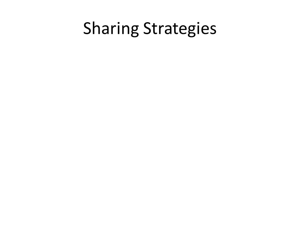 Sharing Strategies