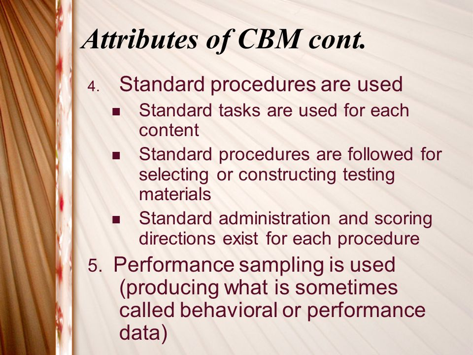 CBMs & the Curriculum What is the definition of curriculum.