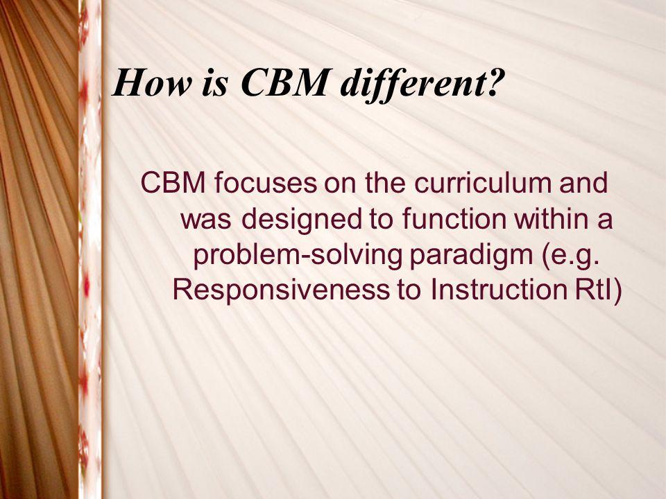 Where do CBMs get the performance standards.