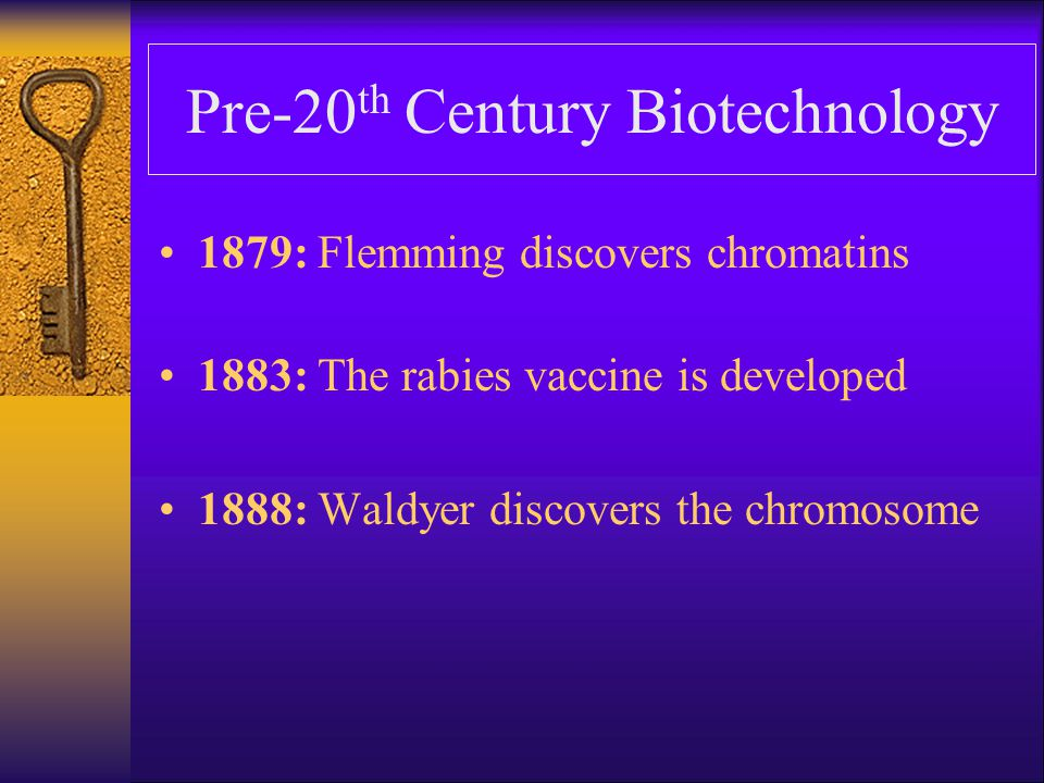Biotechnology In The First Part Of The 20 th Century 1902: The term immunology first used 1906: The term genetics is used 1915: Bacterial viruses, called phages, are discovered 1919: The word biotechnology is first used 1927: Muller discovers that X-rays cause mutation 1928: Fleming discovers penicillin 1938: The term molecular biology is used 1941: The term genetic engineering is first used