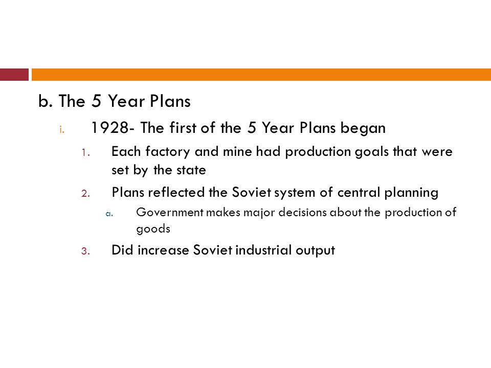 c.Collectivization i. Stalin wanted to increase Soviet farm output ii.