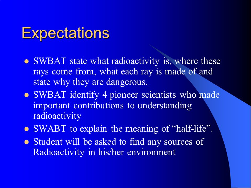 Radioactivity – Is it a Health Problem.