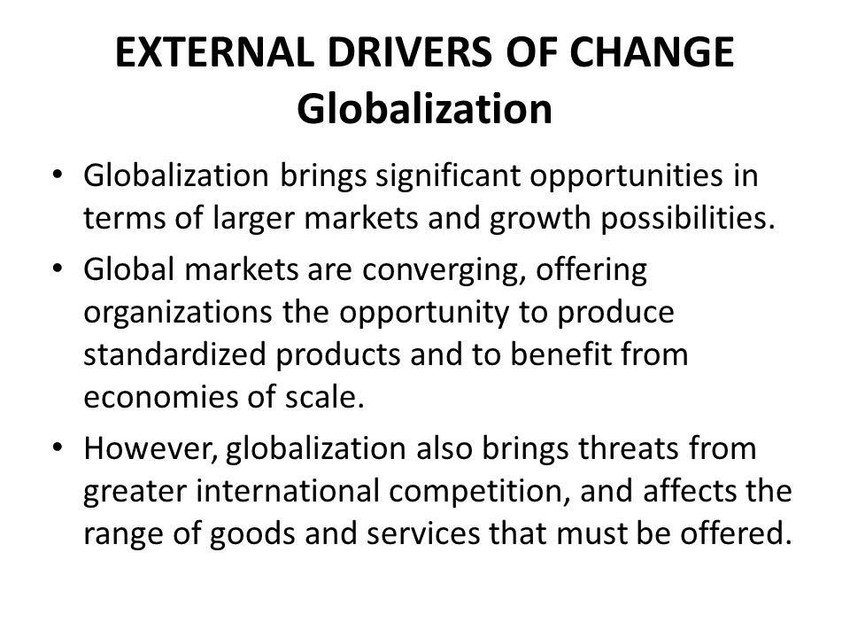 FORCE FIELD ANALYSIS Driving Forces for Change Forces that initiate a change and keep it going, eg: new competition, cash flow crisis, rising costs.