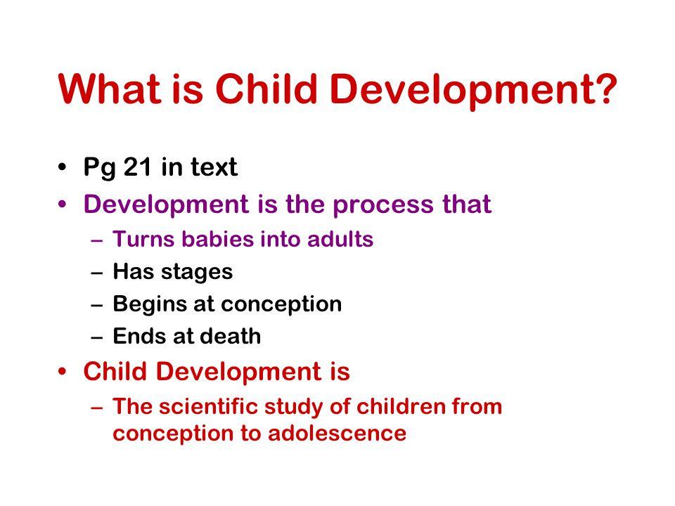 What is Child Development.