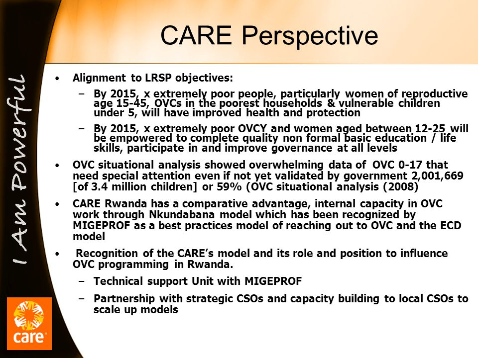 CARE Perspective cont.