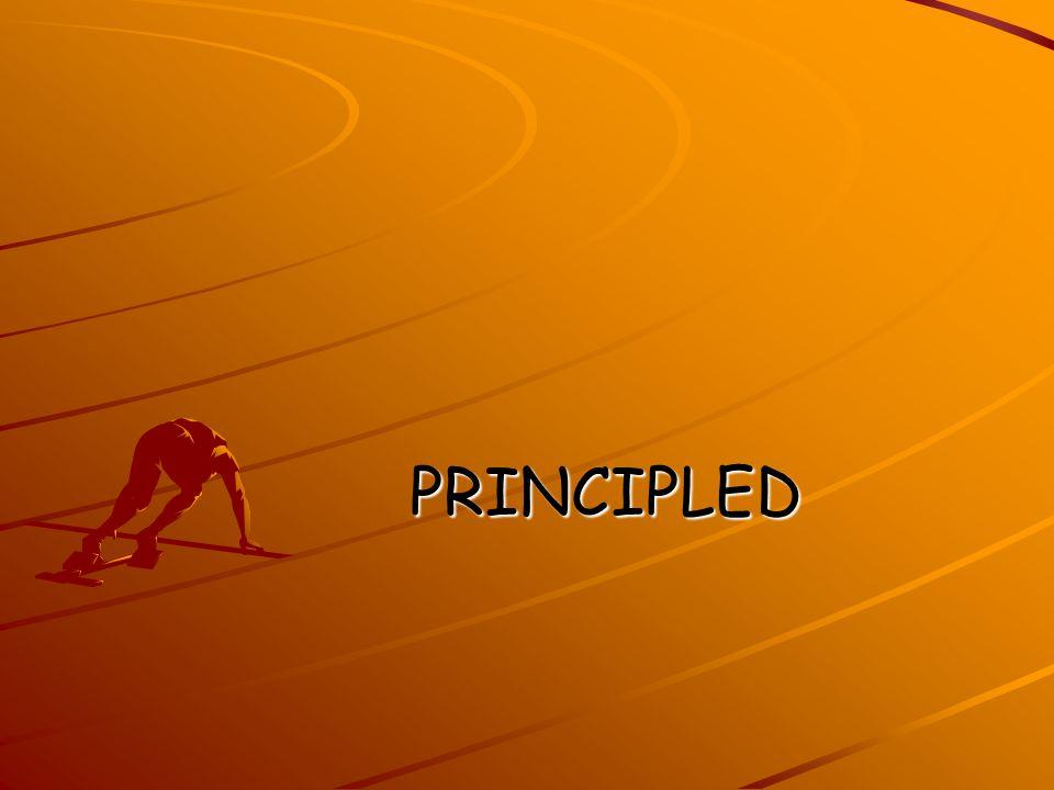 PRINCIPLED PRINCIPLED