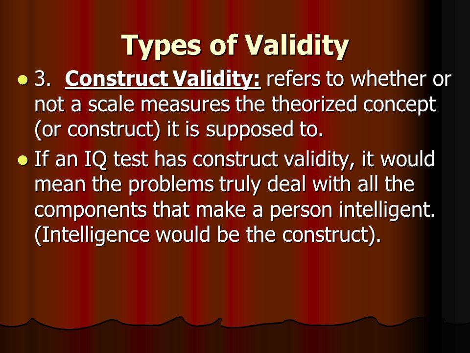 Types of Validity 3.