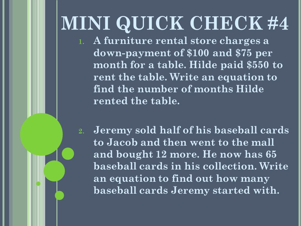 MINI QUICK CHECK #4 1.