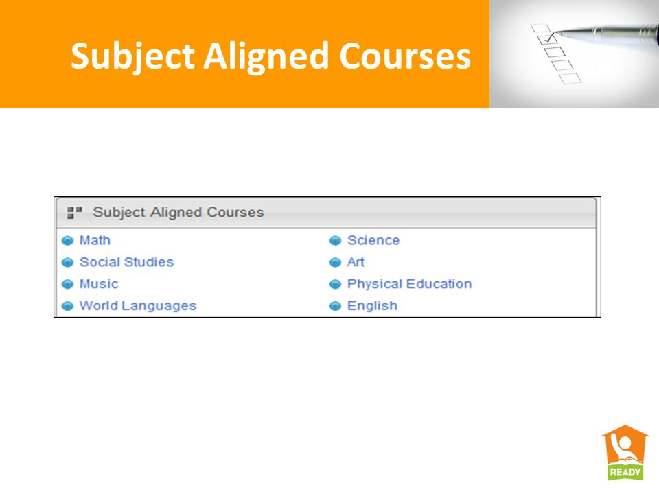 Subject Aligned Courses