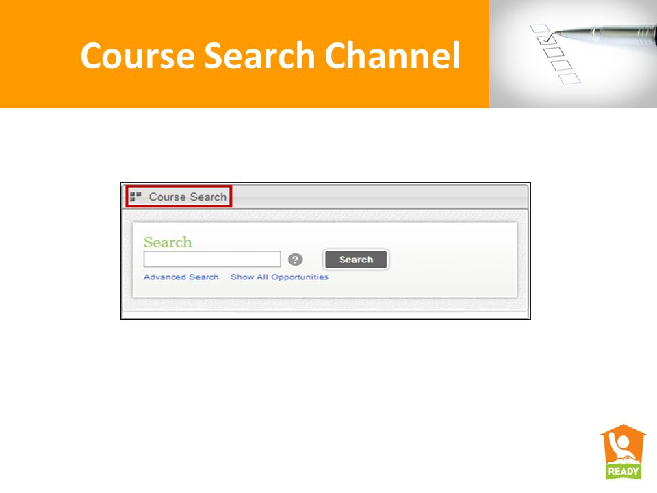 Course Search Channel