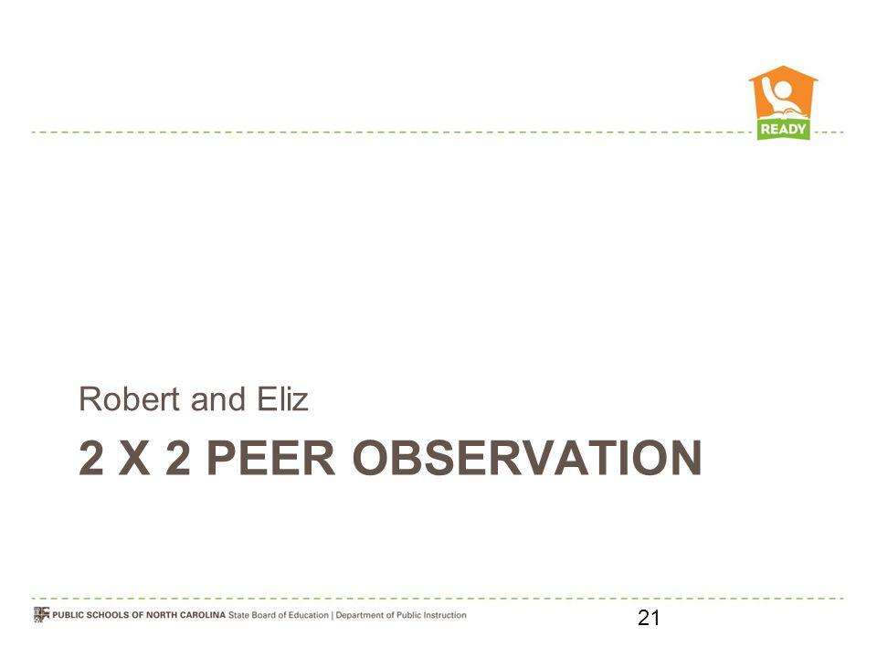 2 X 2 PEER OBSERVATION Robert and Eliz 21