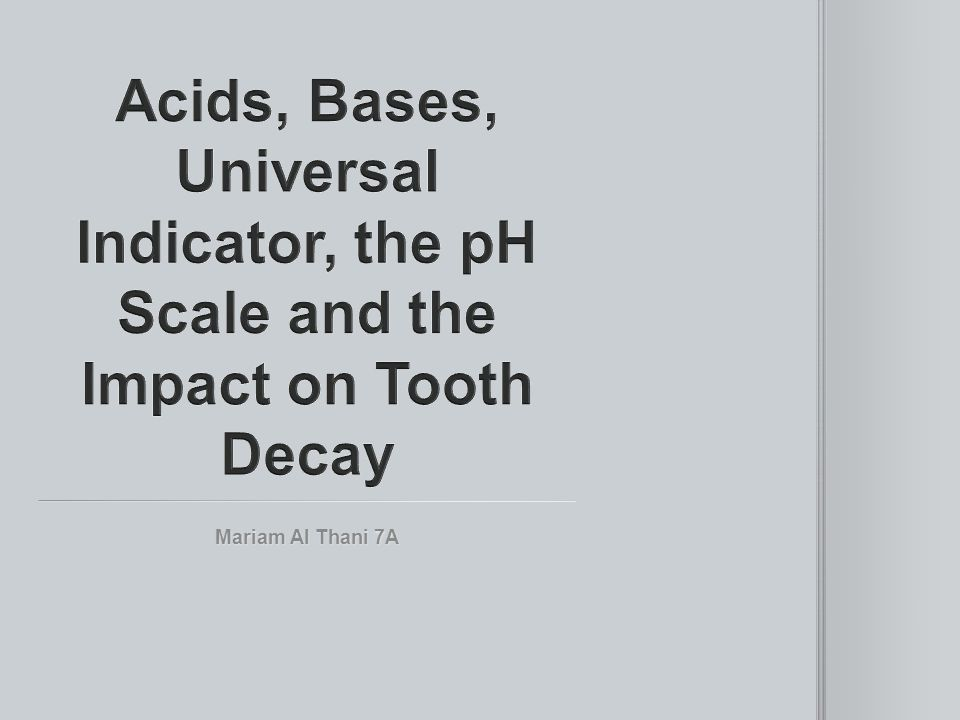 The pH scale measures if something is an acid or a base on a scale of 1 to 14.