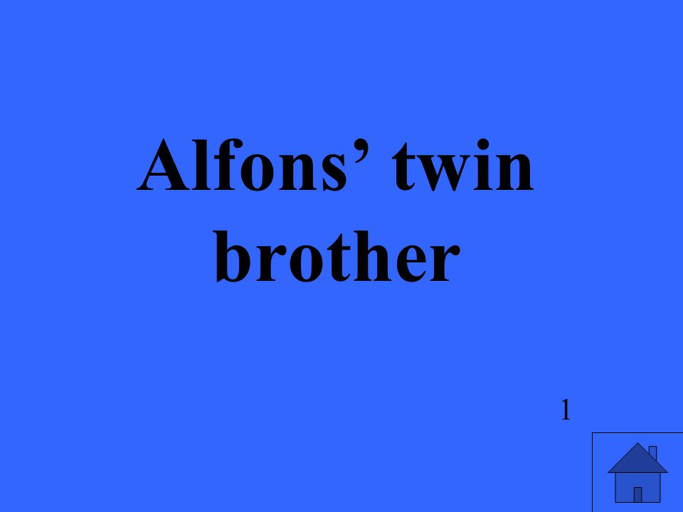 Alfons' twin brother 1